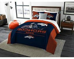 055--> Denver Broncos - 3 Piece KING Size Printed Comforter