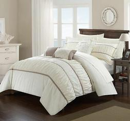 Chic Home 10 Piece Aero Pleated &  Ruffled Bed In a Bag Comf