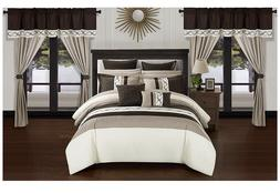 24 Piece Rinat Bed in a Bag Comforter Set by Chic Home queen