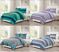 3-PC Comforter Set Microfiber 4 Different Designs All Season