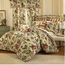 WAVERLY 4 PIECE COMFORTER SET KING LAUREL SPRINGS PARCHMENT