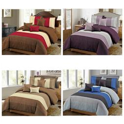 DCP 5-Piece Bedding Comforter Set Bed in a Bag,Warm & Soft,T