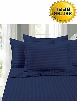 6 Piece Luxury Bed Sheet Set Super Soft Egyptian Cotton King