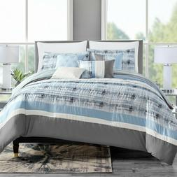 7 Piece Marlen Embroidery and Pleated Comforter Set Bed-In-A