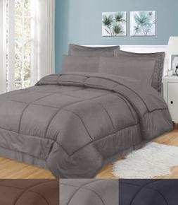 8 Piece Bed In A Bag Checkered Comforter Sheet Bed Skirt Sha