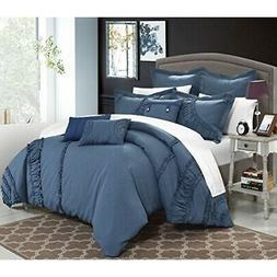 """""""Chic Home 8 Piece Lunar New Linen Fabric Collection Comfort"""
