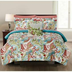 8-Piece Printed Reversible Complete Bed Set Kailyn Full Amra
