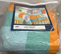 C&F Home 89895.105920000002 Fiesta Key Quilt, King, Blue