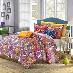 Chic Home Mumbai 8 Piece Reversible Comforter Set/Printed Lu