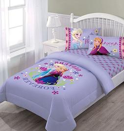 Disney Frozen Nordic Summer Florals Full Comforter Set with