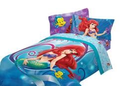 Disney Little Mermaid Shimmer and Gleam 72 by 86-Inch Comfor