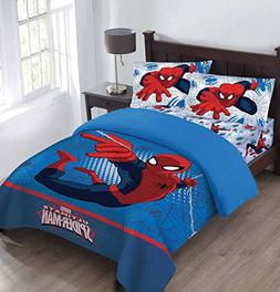 Marvel The Spiderman Webbed Wonder Twin Comforter Set with F