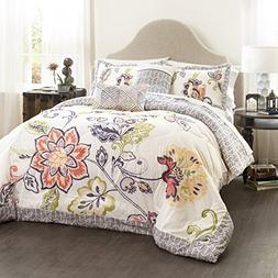 aster quilted comforter coral navy