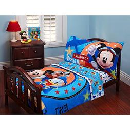 Baby Mickey Mouse Toddler Bed Set Comforter Top Sheet Fitted