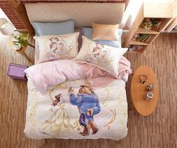 Beauty and the Beast Disney Cartoon 3D Printed Bedding Set f