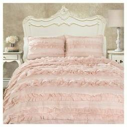 Lush Decor Belle Quilt Comforter Sham Twin XL Bed Set Girls