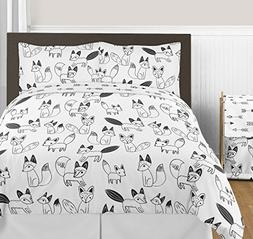 Black and White Fox and Arrow Boys or Girls 3 Piece Full / Q