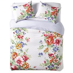 The Pioneer Woman Beautiful Bouquet Comforter White Full Que