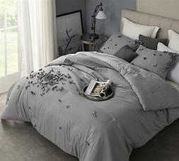 Byourbed BYB Petals Handsewn King Comforter - Gray