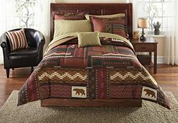 Mainstays Cabin Bed In A Bag Coordinated Bedding Set 8Pc Ful