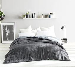 Byourbed Cable Knit Twin XL Comforter - Granite Gray