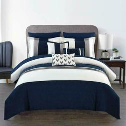 Chic Home Ayelet 10 Piece Comforter Set Color Block Ruffled
