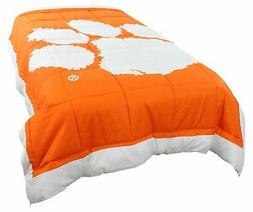 clemson tigers 2 sided reversible comforter twin