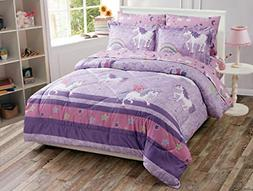 Luxury Home Collection 7 Piece Queen Size Comforter Set for