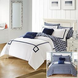 Chic Home CS2945-AN 9 Piece Trace Contemporary Greek Key Emb