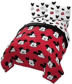 Jay Franco Disney Mickey Mouse Cute Faces Twin Comforter - S