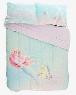 DISNEY The Little Mermaid Watercolor Full/Queen Comforter+ 2