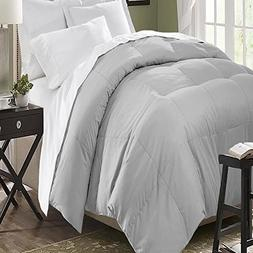 Microfiber Down Alternative Comforter Full/Queen, Platinum