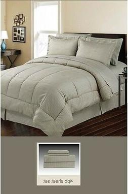 DOWN ALTERNATIVE 5 PC BED SET, COMFORTER AND SHEET SET, QUEE