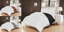 Down Alternative Comforter Bed Cover REVERSIBLE 2 SHADES  qu