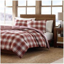 Eddie Bauer Edgewood Plaid Down Alternative 3pc Comforter Se