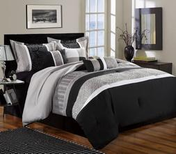 Chic Home Euphoria 8-Piece Embroidered Comforter Set Embroid
