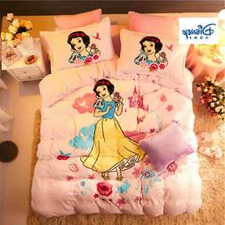 flannel fleece Snow White Princess comforter bedding set que