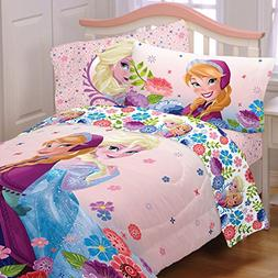 5 Piece Full Size Frozen Bedding Set Includes 4pc Full Sheet