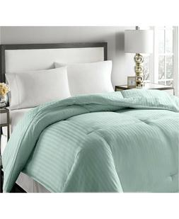 Royal Luxe TWIN Comforter Down & Feather Luxury Damask Strip