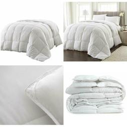 Goose Down Comforter White Blanket Luxury Hotel Bedroom Ligh