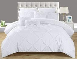 Chic Home 8 Piece Hannah Pinch, Ruffled and Pleated Complete