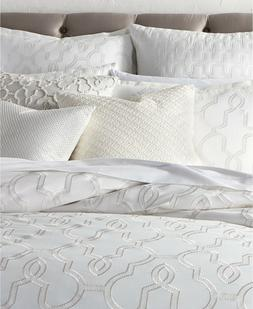Hotel Collection Inlay NaturalWHITE Cotton Full Queen Duvet/