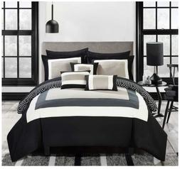 Chic Home Jouein 10 Piece Comforter Set Reversible Hotel Col