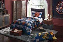 4 Piece Kids Blue White Multi Harry Potter Rugby Pride Comfo