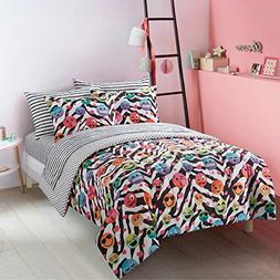 7 Piece Kids Multi Emoji Theme Comforter with Sheets Queen S