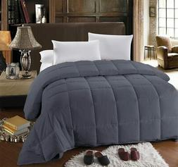 King Size Down Alternative Comforter with Gray Sheet Set Fit