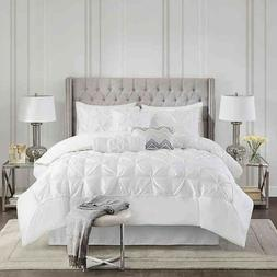 King Size White Madison Park Laurel 7 Piece Tufted Comforter