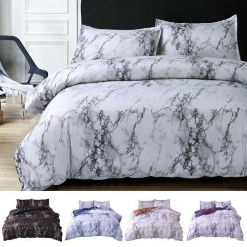 3 Printed Comforter Cover Queen King Quilt Set