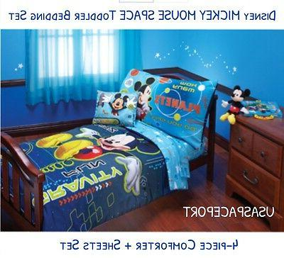 4pc mickey mouse space toddler bed in