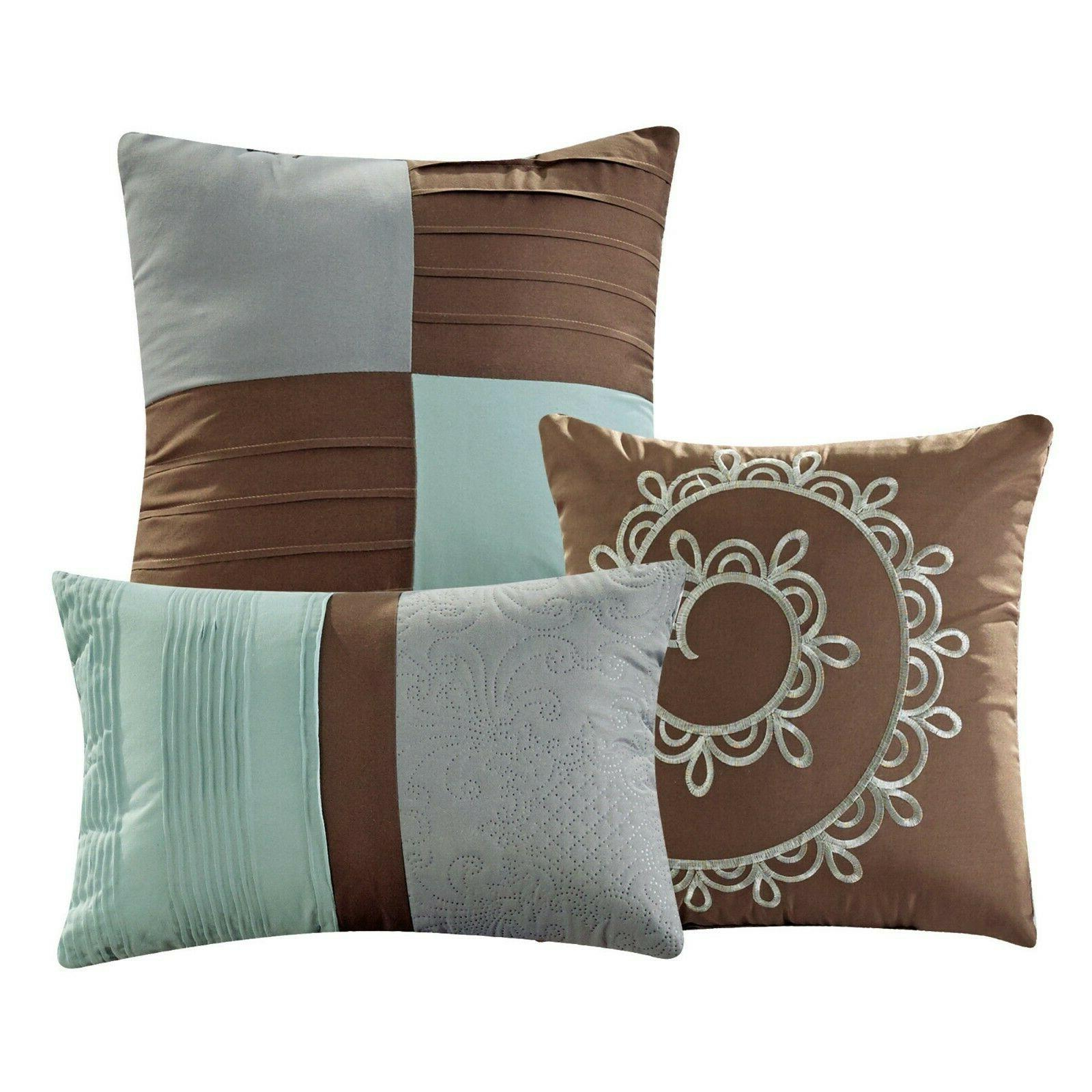 7 Piece Marinko and Pleated Set Bed-In-A-Bag